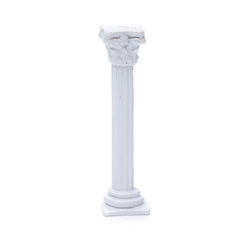 Colonna stile romano resina bianca 15 cm per presepe 1