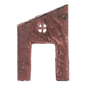 Mur avec entrée et croix 13,20x9 cm pour crèche s2