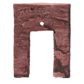 Mur avec entrée et croix 13,20x9 cm pour crèche s4