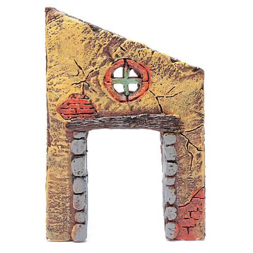 Mur avec entrée et croix 13,20x9 cm pour crèche 1
