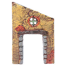 Wall with entrance and cross 15x10 cm for nativity scene s1