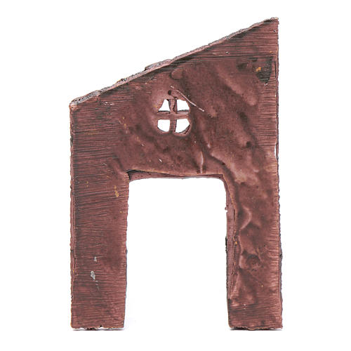 Wall with entrance and cross 15x10 cm for nativity scene 2