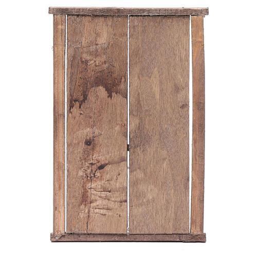 Portón de madera 2 puertas y marco 20x15 cm belén Nápoles 3