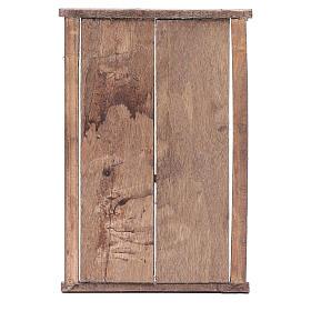 Portone in legno 2 ante e infisso 20x15 cm presepe Napoli s3