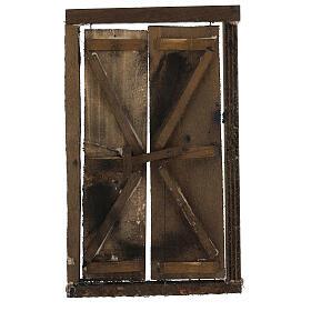Portone in legno 2 ante e infisso 20x15 cm presepe Napoli s1