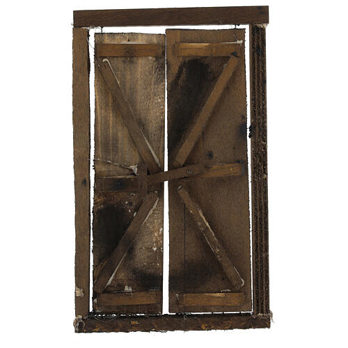 Portone in legno 2 ante e infisso 20x15 cm presepe Napoli 1