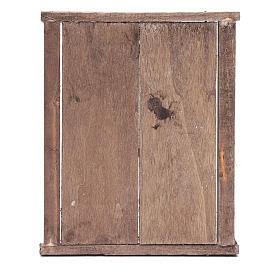 Portone con infisso 2 ante legno 15x15 cm presepe Napoli s3