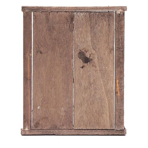 Portone con infisso 2 ante legno 15x15 cm presepe Napoli 3