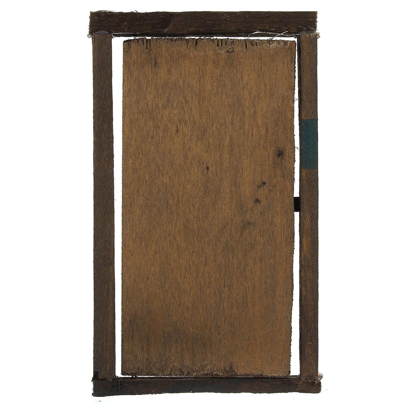 Porta legno con infisso 15x10 cm presepe di Napoli 4