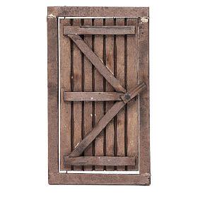 Porta legno con infisso 15x10 cm presepe di Napoli s1
