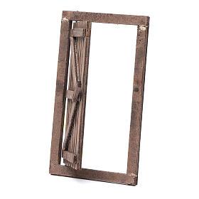 Porta legno con infisso 15x10 cm presepe di Napoli s2
