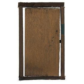 Porta legno con infisso 15x10 cm presepe di Napoli s3