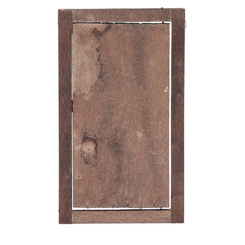 Porta legno con infisso 15x10 cm presepe di Napoli 3
