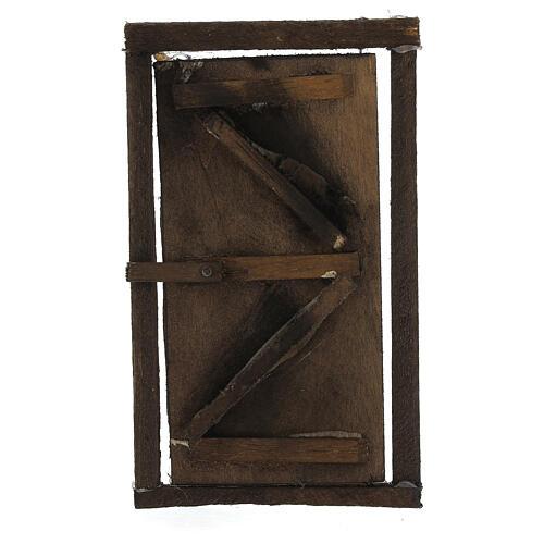 Porta legno con infisso 15x10 cm presepe di Napoli 1