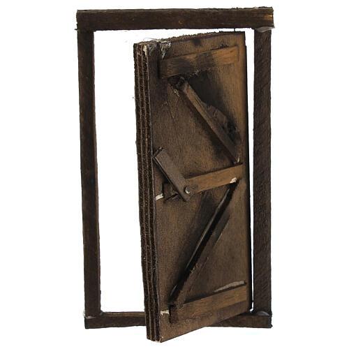 Porta legno con infisso 15x10 cm presepe di Napoli 2