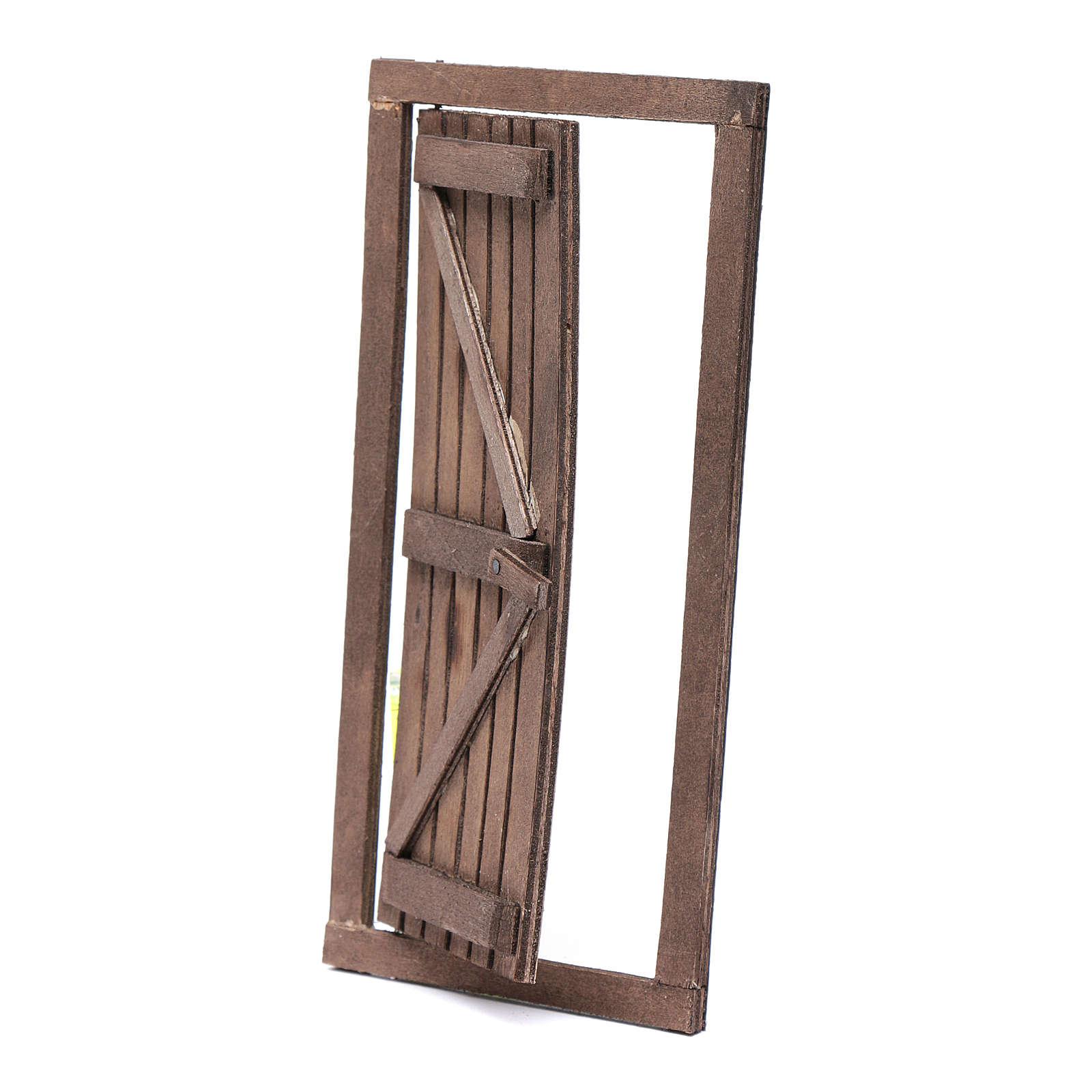 Porta con infisso in legno 20x10 cm presepe di Napoli 4