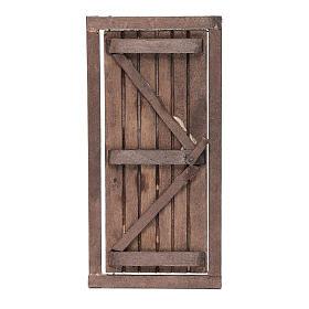Porta con infisso in legno 20x10 cm presepe di Napoli s1