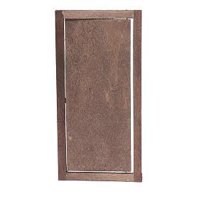 Porta con infisso in legno 20x10 cm presepe di Napoli s3