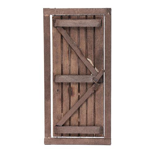 Porta con infisso in legno 20x10 cm presepe di Napoli 1