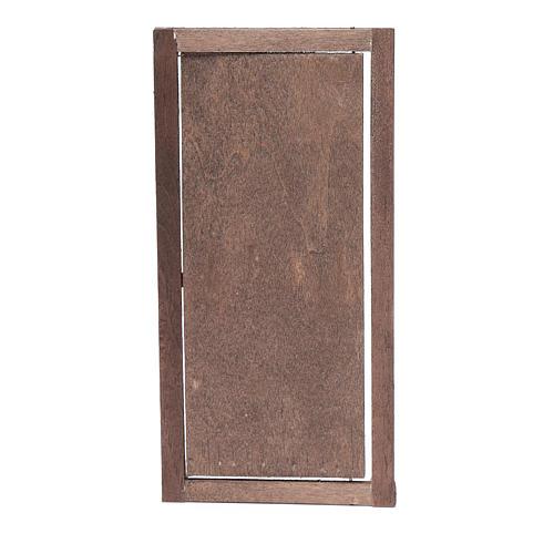 Porta con infisso in legno 20x10 cm presepe di Napoli 3