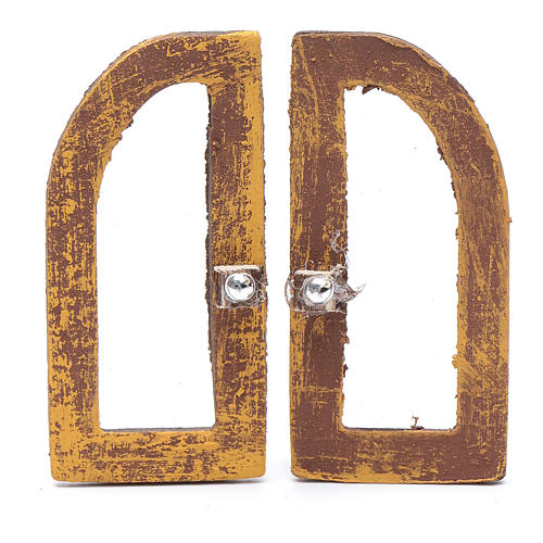 Ventana de arco 5 cm madera set 2 piezas para belén 1