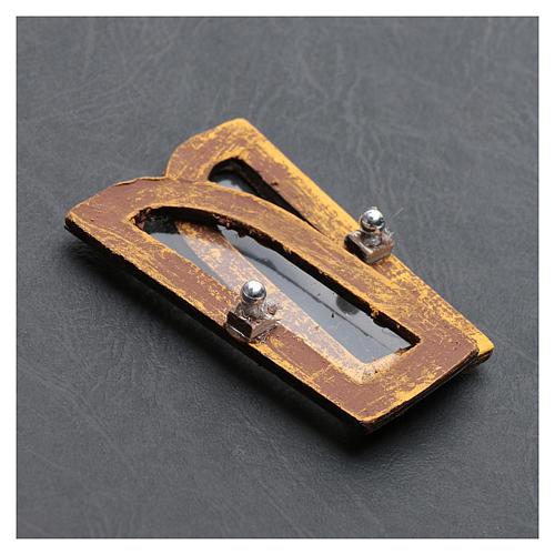 Janela em arco 5 cm madeira 2 peças para presépio 3