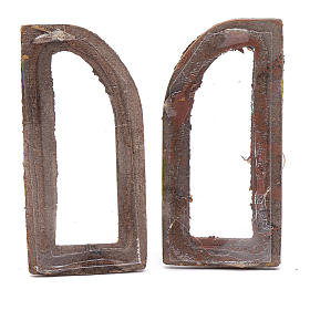 Nativity scene arched window 2 pieces set 5 cm s2