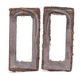 Finestra rettangolare 5 cm legno set 2 pz per presepe s2
