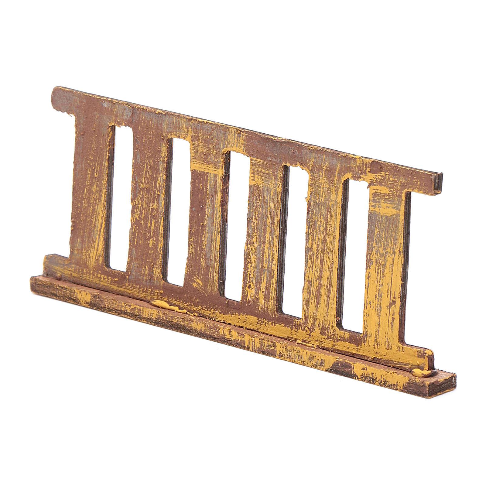 Ringhiera in legno 10x5 cm per presepe 4