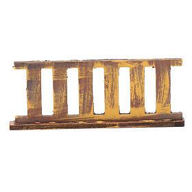 Ringhiera in legno 10x5 cm per presepe s3