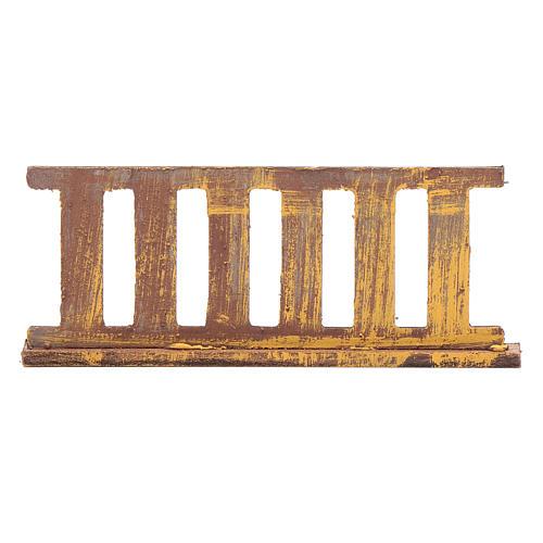 Ringhiera in legno 10x5 cm per presepe 1