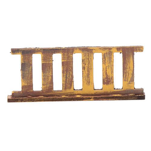 Ringhiera in legno 10x5 cm per presepe 3
