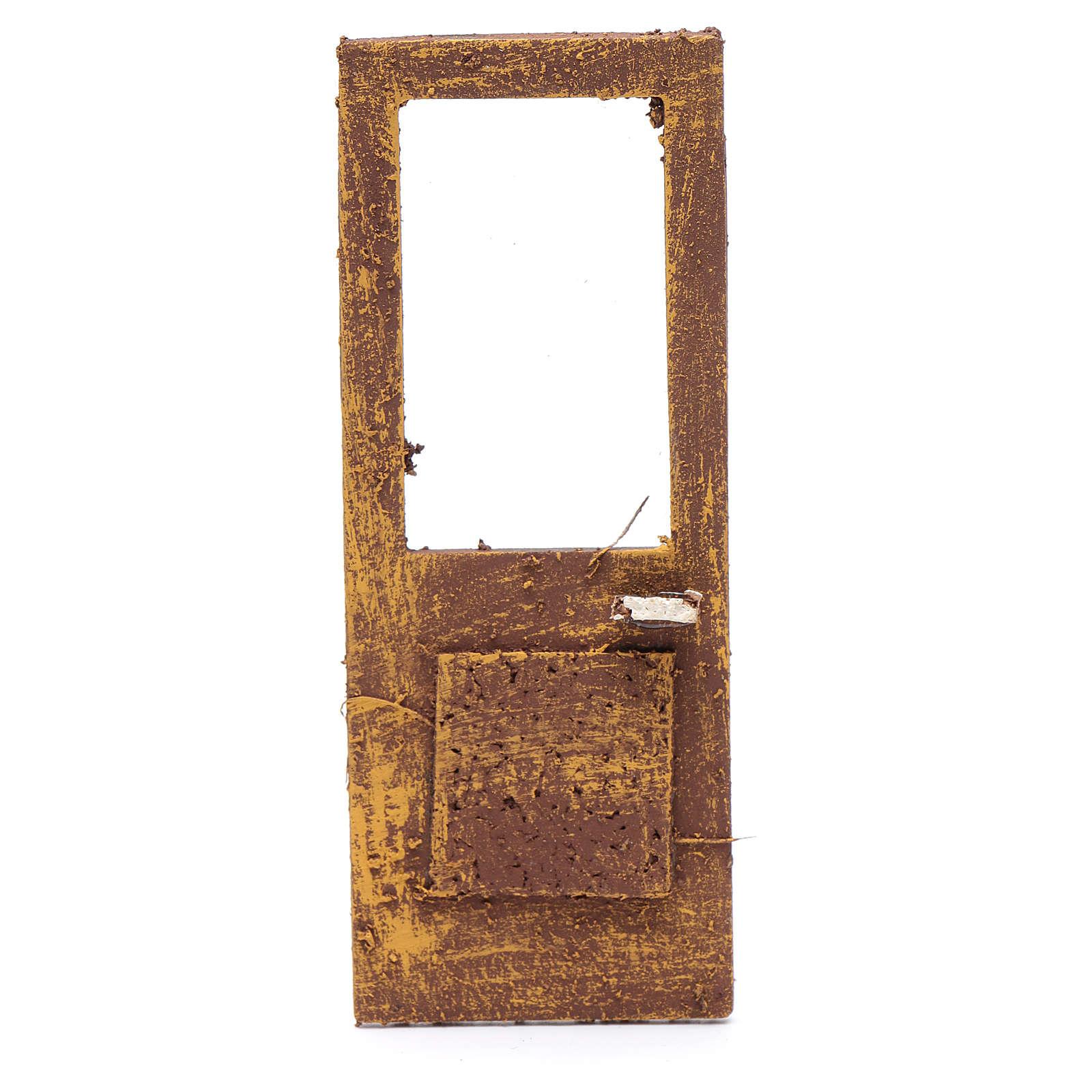 Porte pour crèche 13x5 cm en bois 4