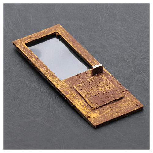 Porte pour crèche 13x5 cm en bois 3