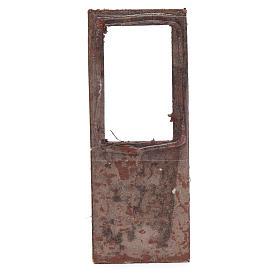 Porta per presepe 15x5 cm in legno s2