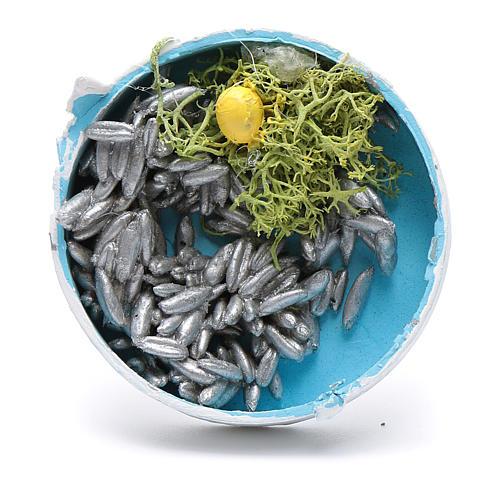 Cassetta prodotti ittici assortiti per presepe 2x5x5 cm 2