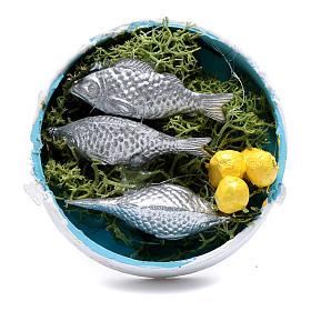 Comida em Miniatura para Presépio: Caixa produtos vários da pesca para presépio 2x5x5 cm