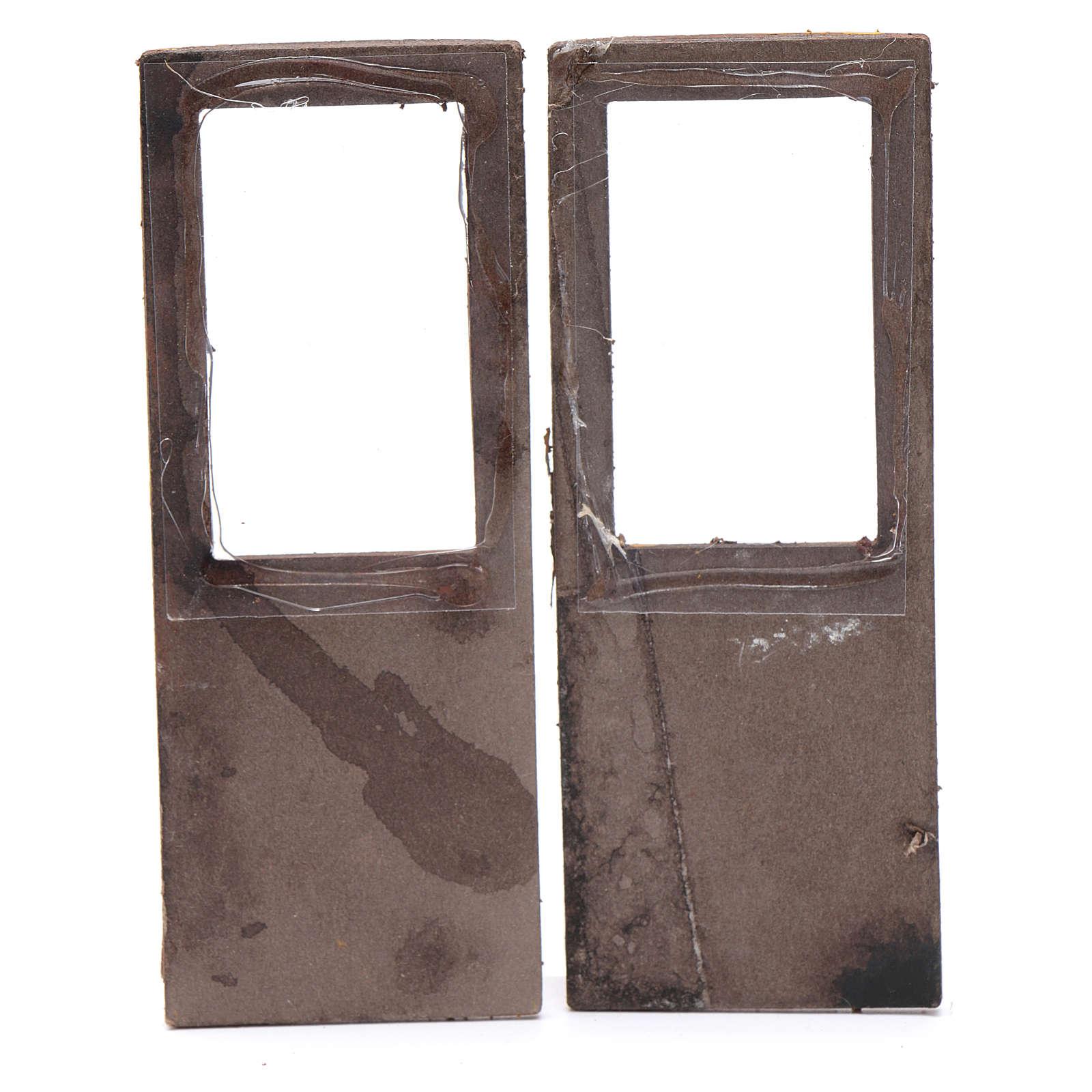 Portafinestra set 2 pz 15x5 cm per presepe 4