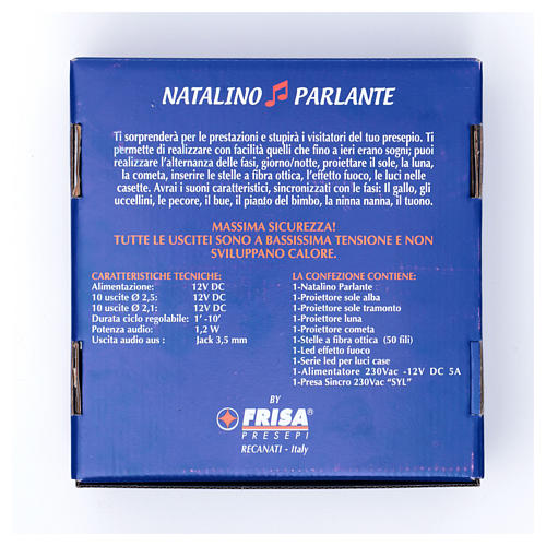 Natalino parlante led Frisalight light and sound effect 8