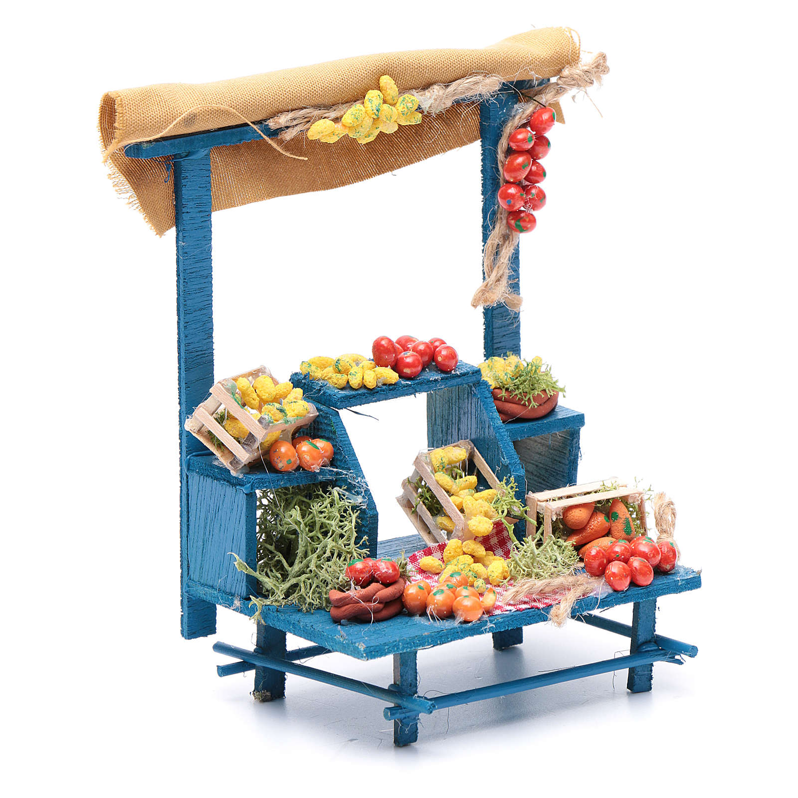 Banco frutta 15X14X9 cm per presepe napoletano 4