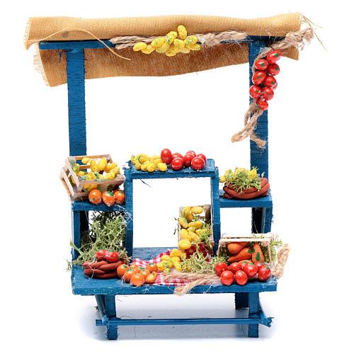 Banco frutta 15X14X9 cm per presepe napoletano 1