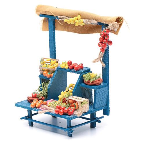 Banco frutta 15X14X9 cm per presepe napoletano 2