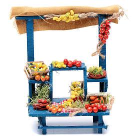Presépio Napolitano: Banca fruta 15x14x9 cm para presépio napolitano