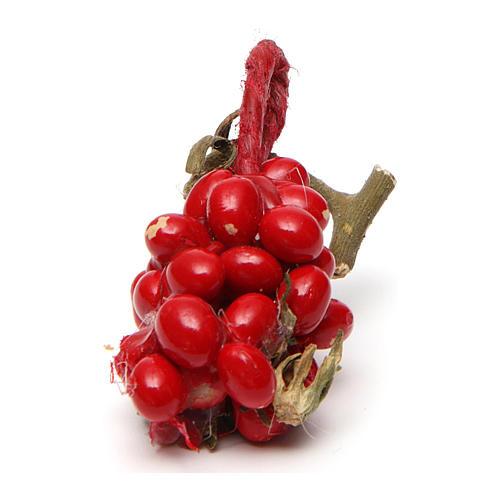 Grappolo di pomodori 3X1,5 cm per presepe napoletano 1