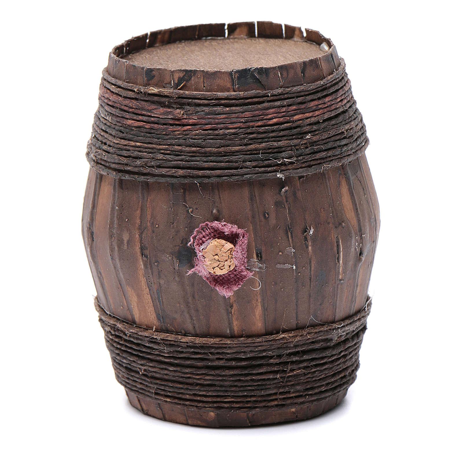 Botte in legno 10X6,5 cm per presepe napoletano 4