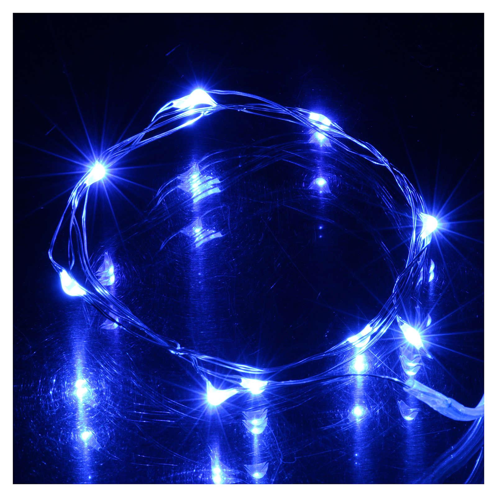 Luci 10 led blu lampeggianti 4