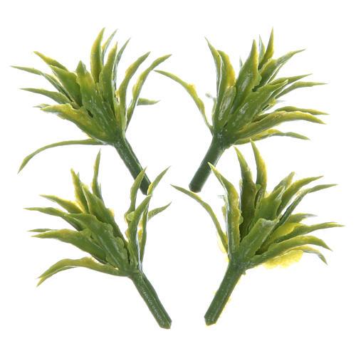 Set de 4 buissons hauteur réelle 3 cm pour crèche 1