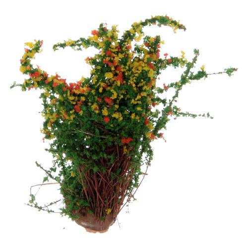 Cespuglio fiorito per presepe altezza reale 3,5 cm 1