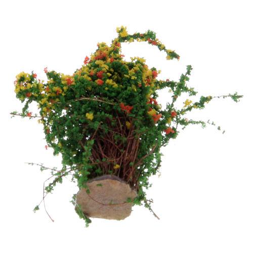 Arbusto com flores para presépio altura real 3,5 cm 2