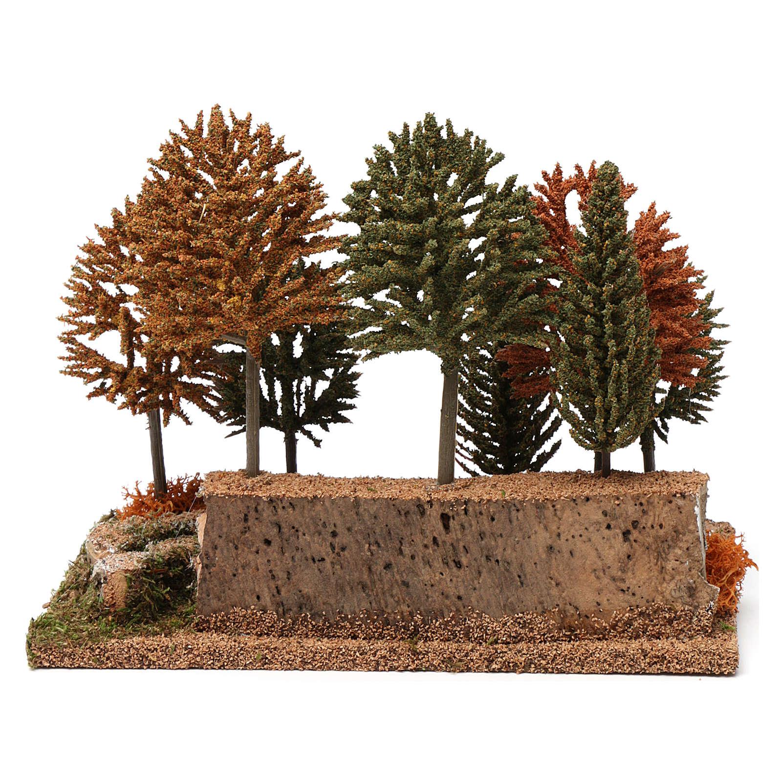 Bosco 8 alberini 20X25X20 cm per presepi 7-10 cm 4